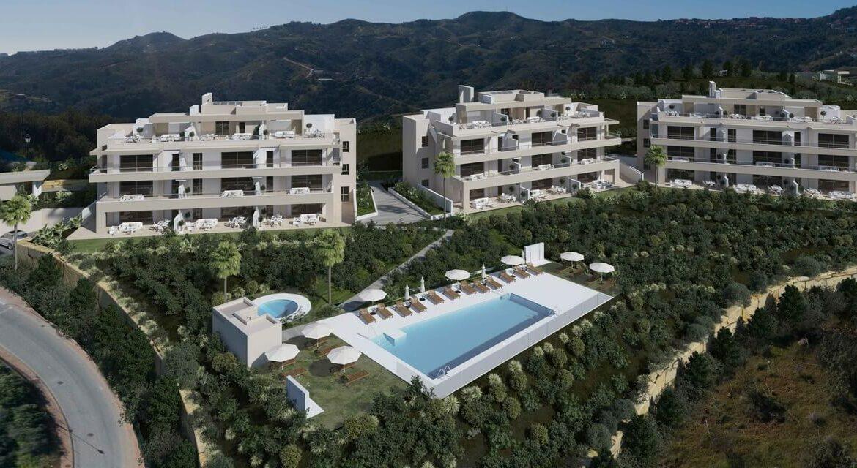 Harmony nieuwbouw appartementen la cala golf mijas costa del sol spanje zeezicht modern complex