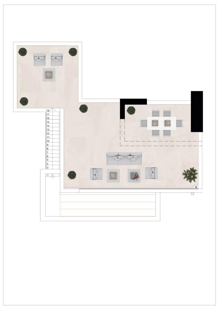 Harmony nieuwbouw appartementen la cala golf mijas costa del sol spanje zeezicht modern grondplan penthouse solarium 3slaapkamers