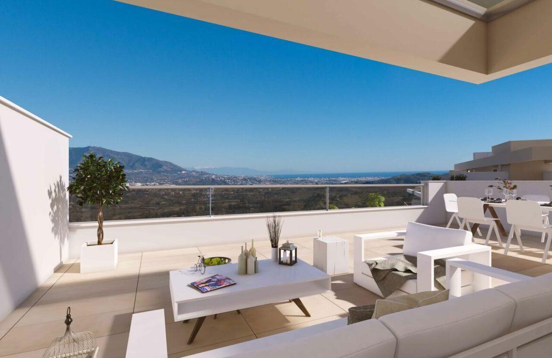 Harmony nieuwbouw appartementen la cala golf mijas costa del sol spanje zeezicht modern terras