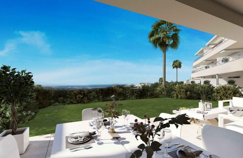 Harmony nieuwbouw appartementen la cala golf mijas costa del sol spanje zeezicht modern tuin
