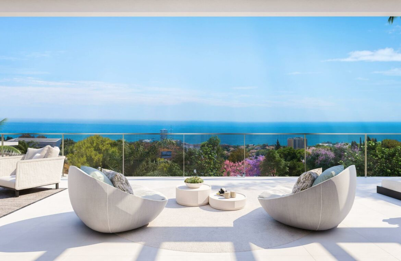 quintessence los monteros marbella spanje costa del sol nieuwbouw zeezicht luxe spa zwembad vamoz terras