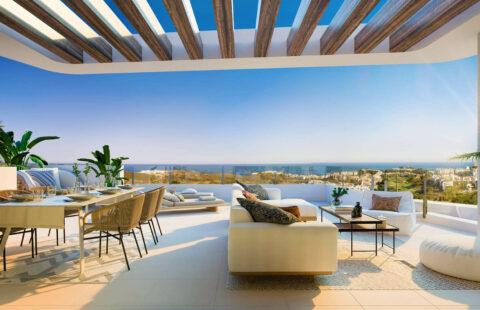 Ipanema: penthouses met zeezicht aan Calanova golf in La Cala