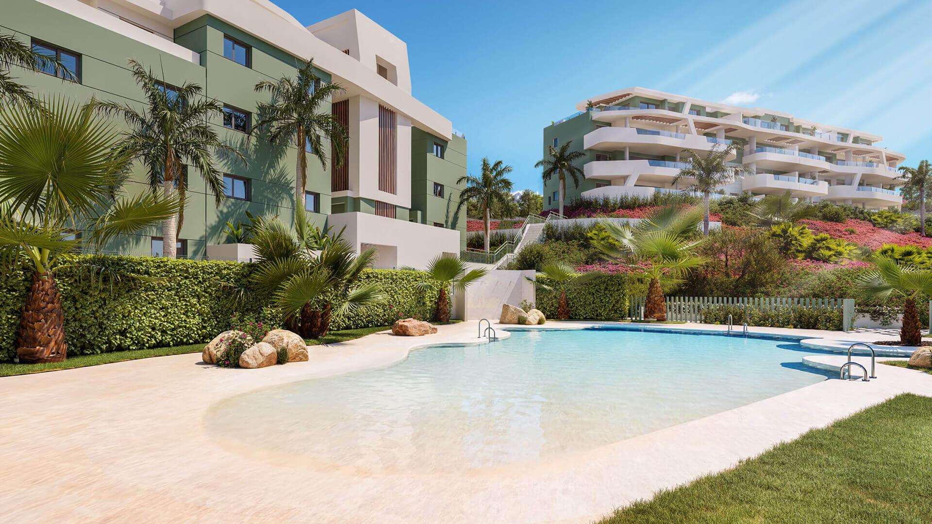 ipanema calanova golf la cala spanje costa del sol nieuwbouw appartement zeezicht zwembad