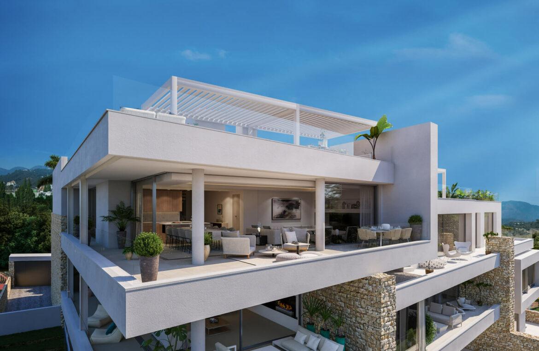 grand view marbella la quinta golf nueva andalucia spanje costa del sol nieuwbouw exclusief luxe penthouse