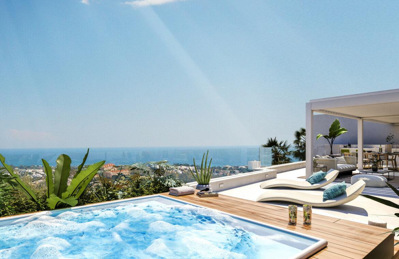 grand view marbella la quinta golf nueva andalucia spanje costa del sol nieuwbouw exclusief luxe penthouse zwembad