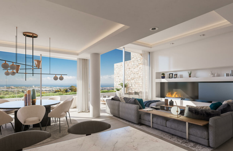 grand view marbella la quinta golf nueva andalucia spanje costa del sol nieuwbouw exclusief luxe salon