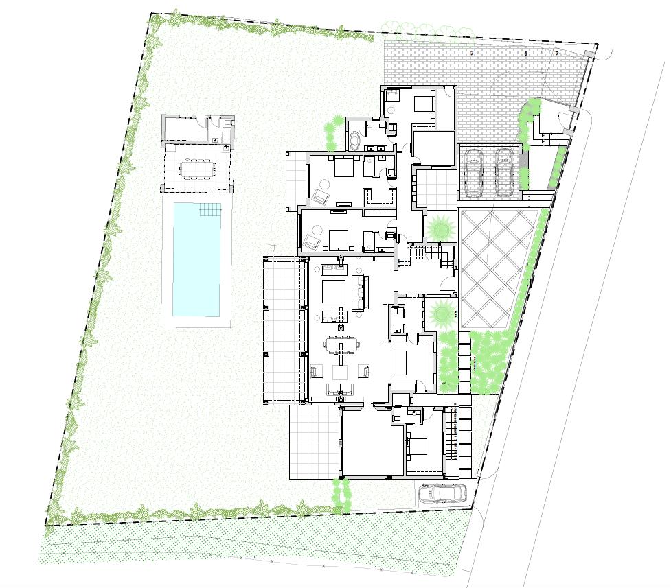 casa chequers el paraiso estate villaroel modern klassiek villa costa del sol spanje grondplan gelijkvloers
