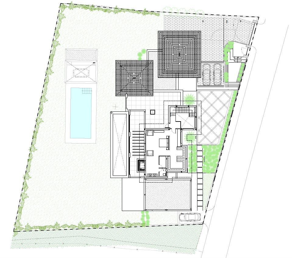 casa chequers el paraiso estate villaroel modern klassiek villa costa del sol spanje grondplan verdieping