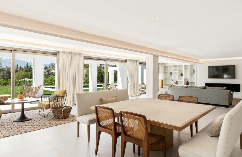 casa chequers el paraiso estate villaroel modern klassiek villa costa del sol spanje salon
