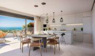 artola homes cabopino costa del sol spanje marbella appartement penthouse te koop vamoz golf nieuwbouw zeezicht keuken
