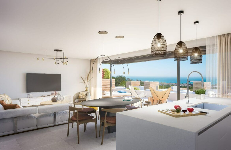 artola homes cabopino costa del sol spanje marbella appartement penthouse te koop vamoz golf nieuwbouw zeezicht leefruimte