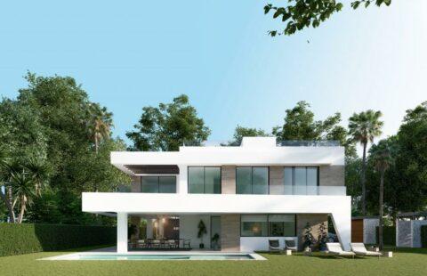 Estrella del Mar: moderne nieuwbouw villa vlakbij het strand in Elviria