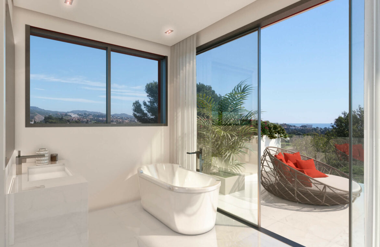 la cornisa rio real golf kleinschalig nieuwbouw appartement te koop costa del sol marbella vamoz badkamer