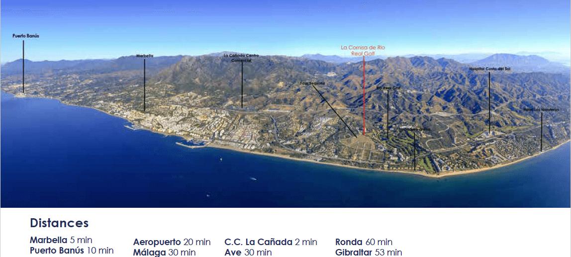 la cornisa rio real golf kleinschalig nieuwbouw appartement te koop costa del sol marbella vamoz ligging
