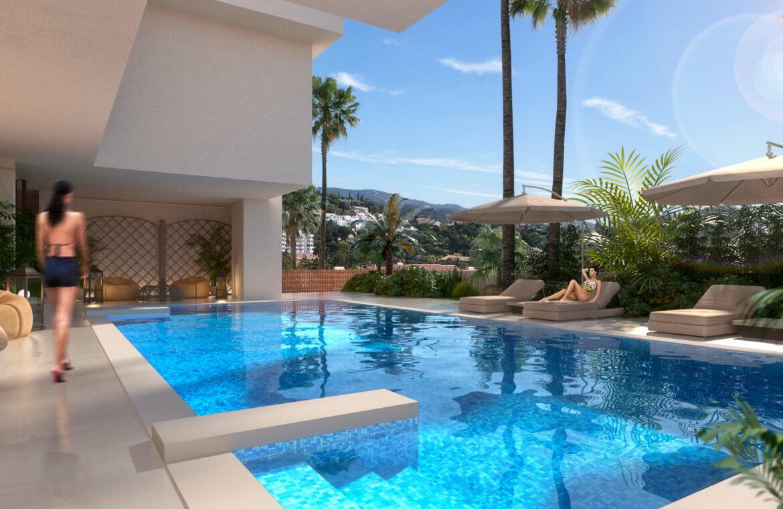 la cornisa rio real golf kleinschalig nieuwbouw appartement te koop costa del sol vamoz marbella tuin