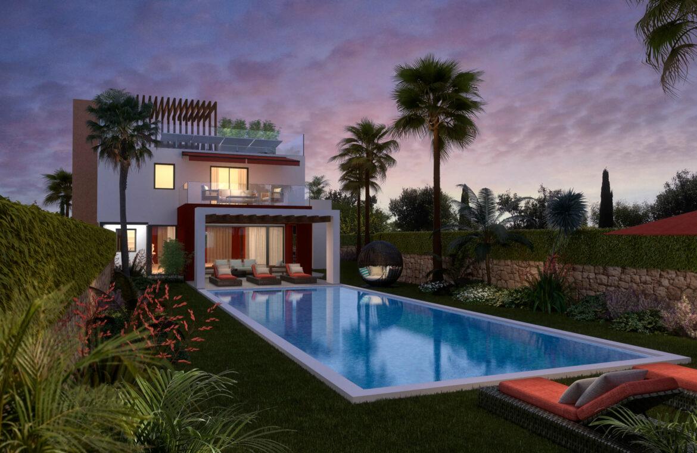 la cornisa rio real golf kleinschalig nieuwbouw villa te koop costa del sol marbella passivhaus 73