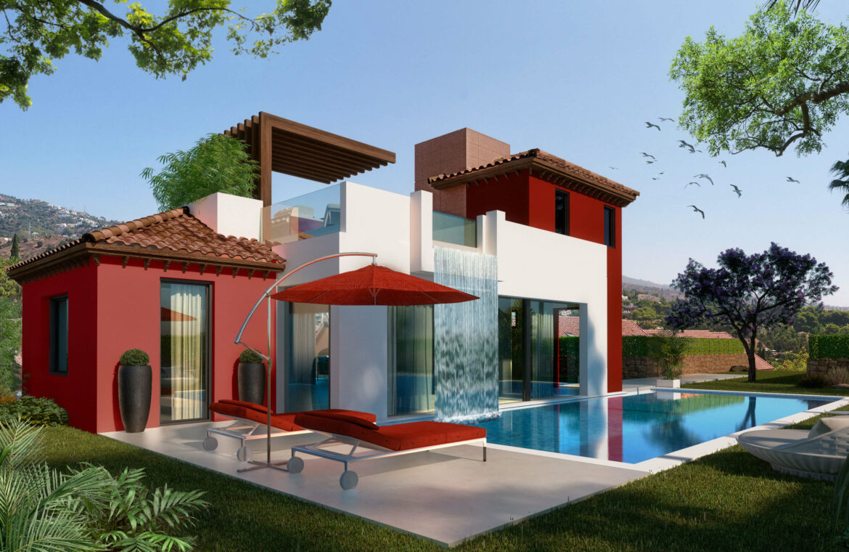 la cornisa rio real golf kleinschalig nieuwbouw villa te koop costa del sol marbella passivhaus 74