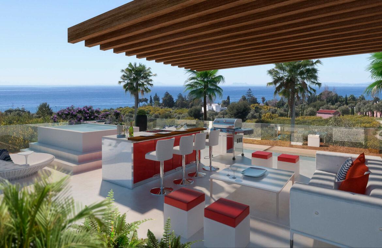 la cornisa rio real golf kleinschalig nieuwbouw villa te koop costa del sol marbella passivhaus dakterras 72