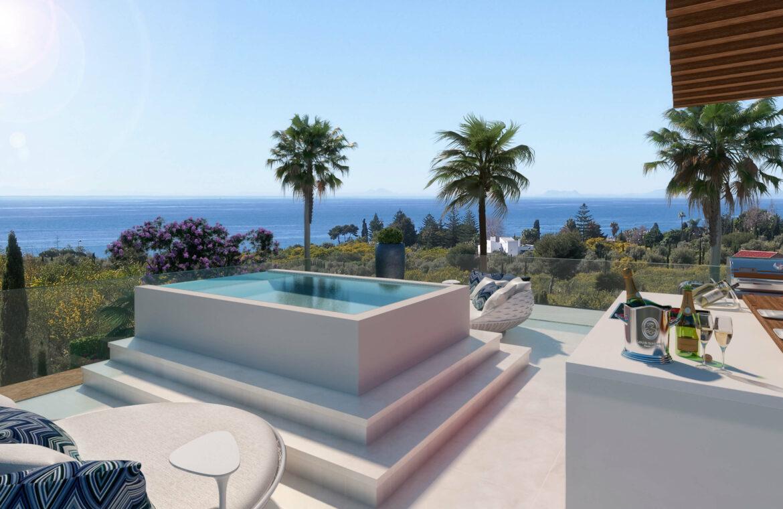 la cornisa rio real golf kleinschalig nieuwbouw villa te koop costa del sol marbella passivhaus solarium 72