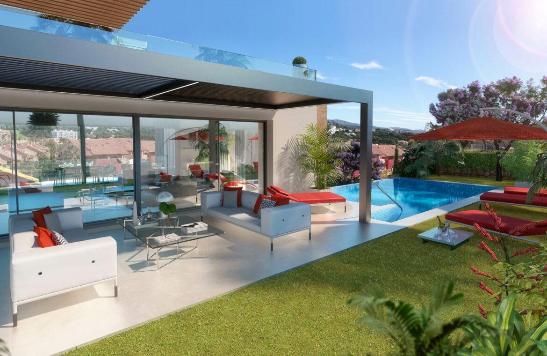 la cornisa rio real golf kleinschalig nieuwbouw villa te koop costa del sol marbella passivhaus terras 72