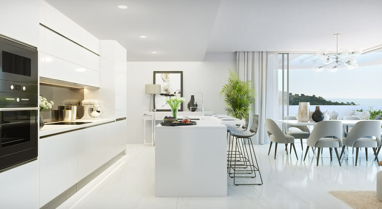 palo alto marbella costa del sol granados spanje vamoz zeezicht luxe modern resort keuken