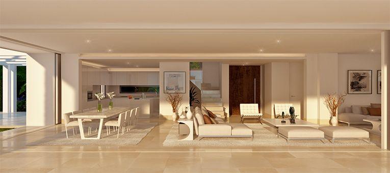 la finca de marbella rio real costa del sol spanje luxe nieuwbouw villa te koop open keuken