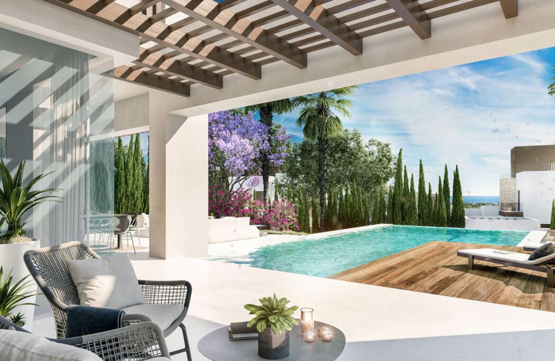 la fuente marbella spanje costa del sol villa te koop luxe uniek golden mile wandelafstand nieuwbouw B terras