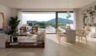 serene atalaya golf estepona costa del sol huis kopen nieuwbouw zeezicht wandelafstand salon