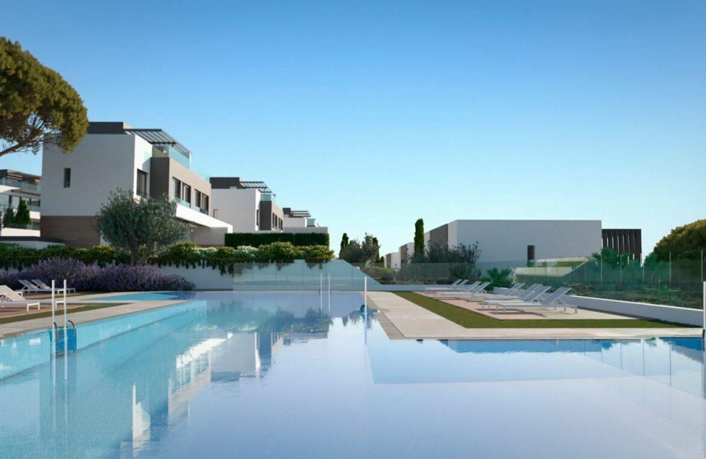 serene atalaya golf estepona costa del sol huis kopen nieuwbouw zeezicht wandelafstand zwembad