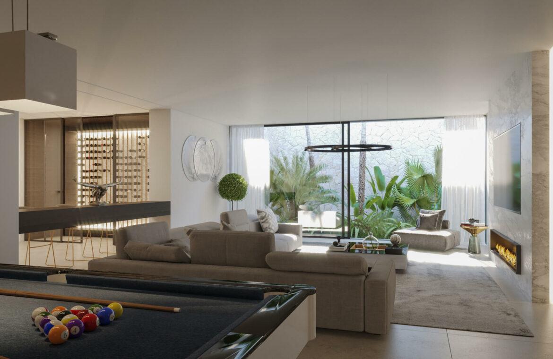 cortijo blanco beach villa vamoz te koop marbella costa del sol spanje nieuwbouw gameroom