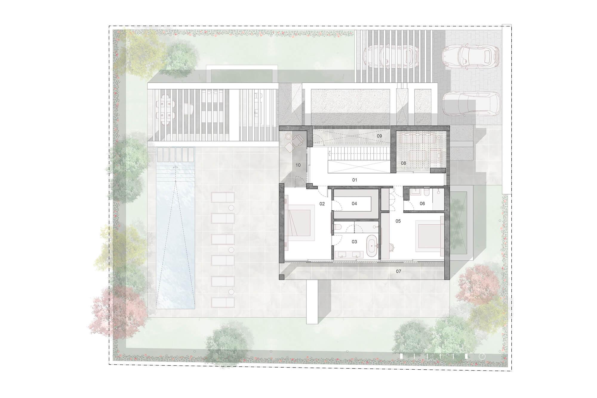 cortijo blanco beach villa vamoz te koop marbella costa del sol spanje nieuwbouw grondplan 1 verdieping