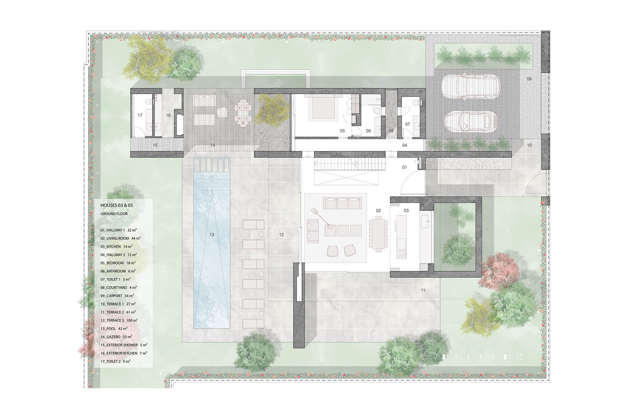 cortijo blanco beach villa vamoz te koop marbella costa del sol spanje nieuwbouw grondplan 2 gelijkvloers