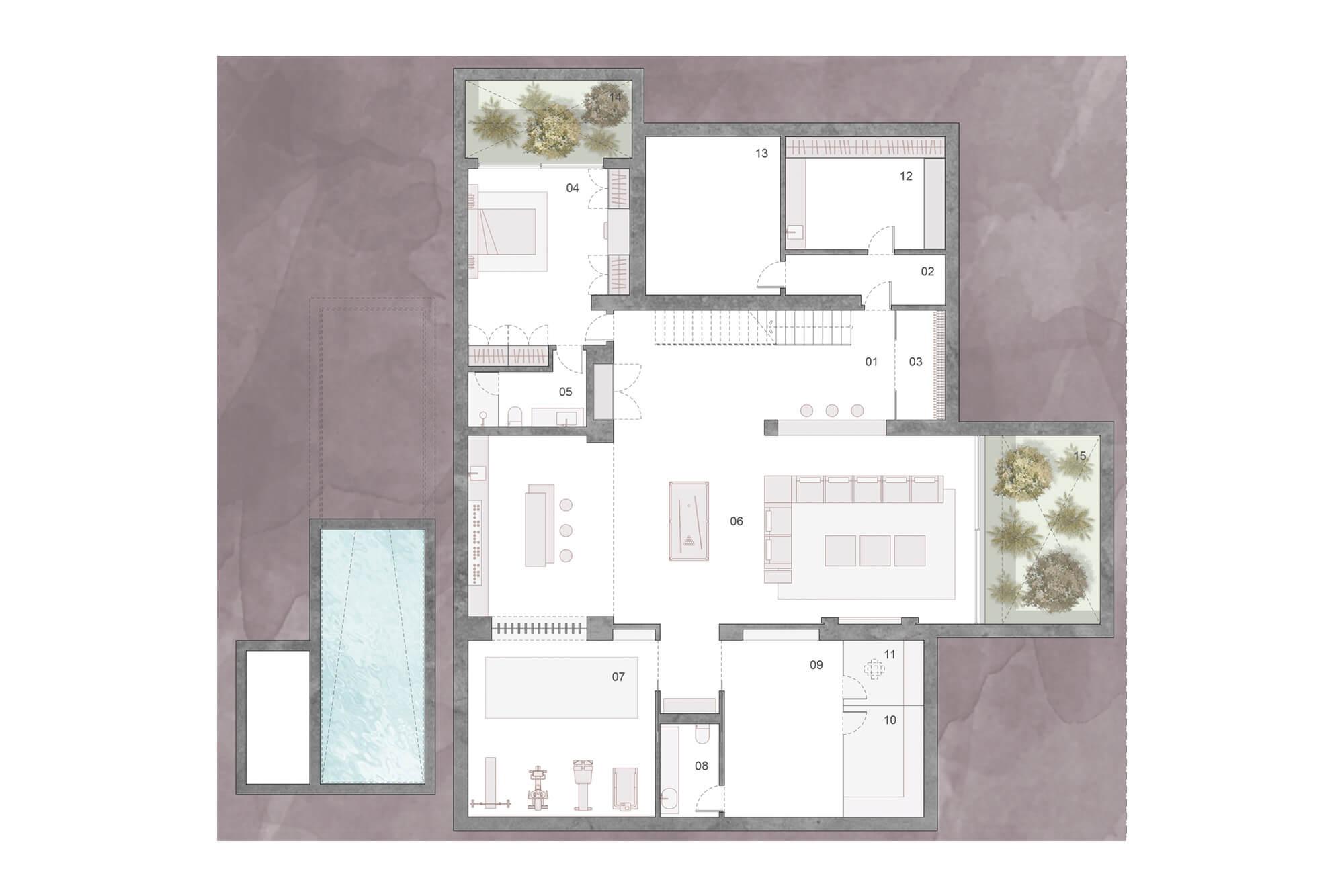 cortijo blanco beach villa vamoz te koop marbella costa del sol spanje nieuwbouw grondplan 2 kelder