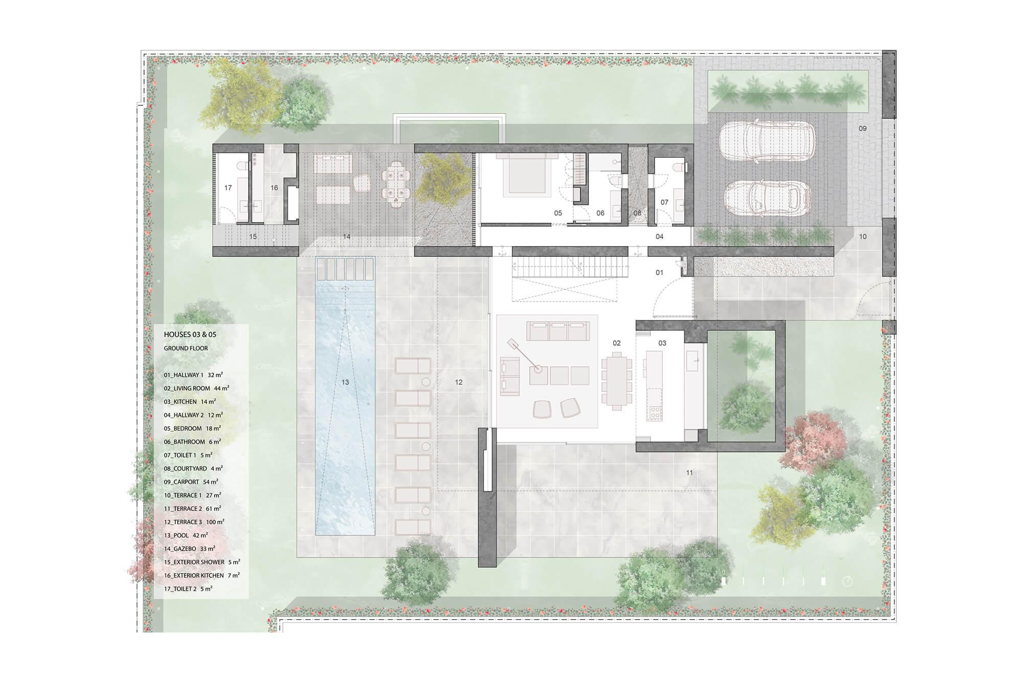 cortijo blanco beach villa vamoz te koop marbella costa del sol spanje nieuwbouw grondplan 3 gelijkvloers