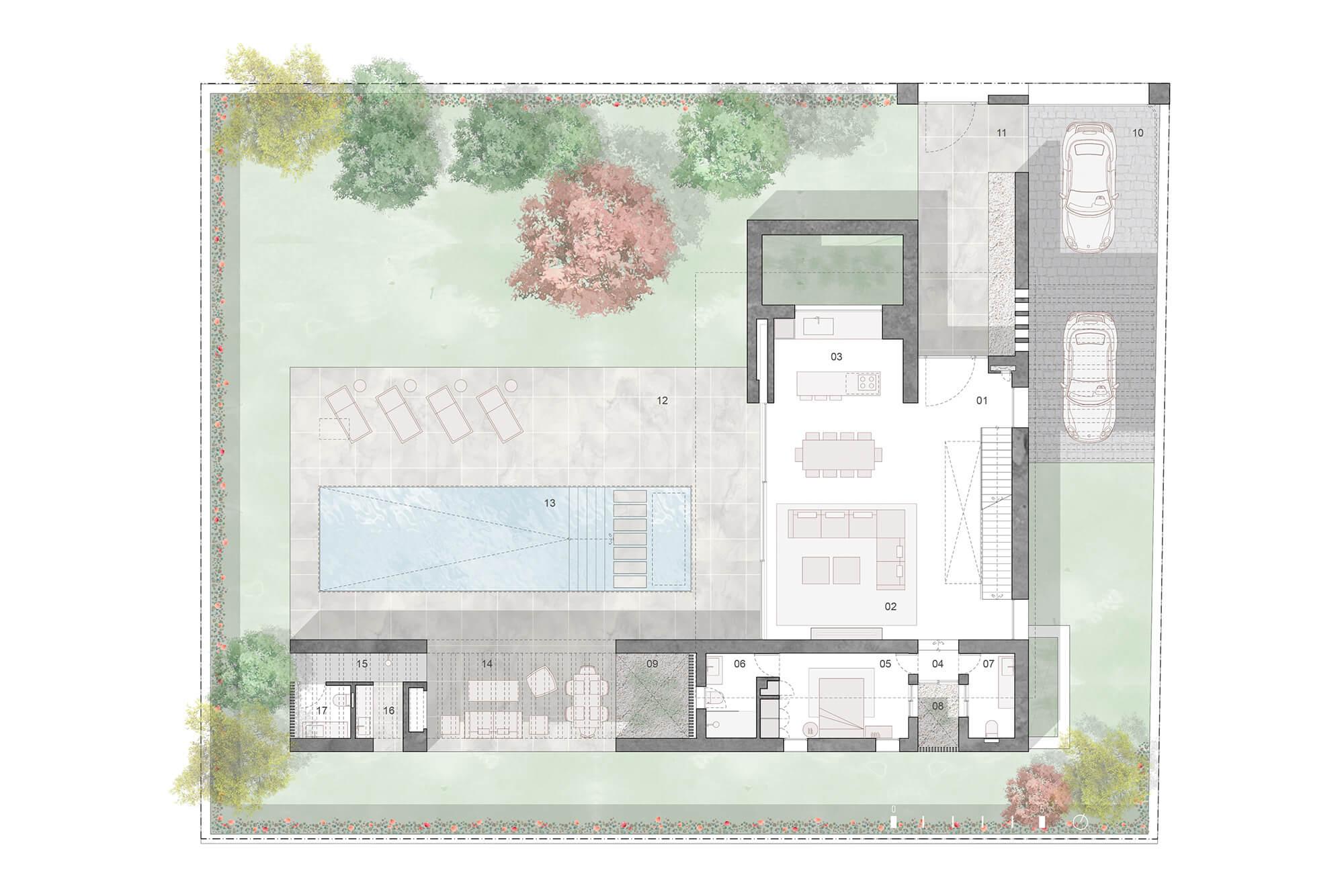 cortijo blanco beach villa vamoz te koop marbella costa del sol spanje nieuwbouw grondplan 4 gelijkvloers