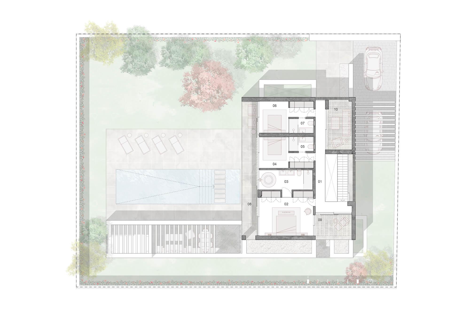 cortijo blanco beach villa vamoz te koop marbella costa del sol spanje nieuwbouw grondplan 4 verdieping