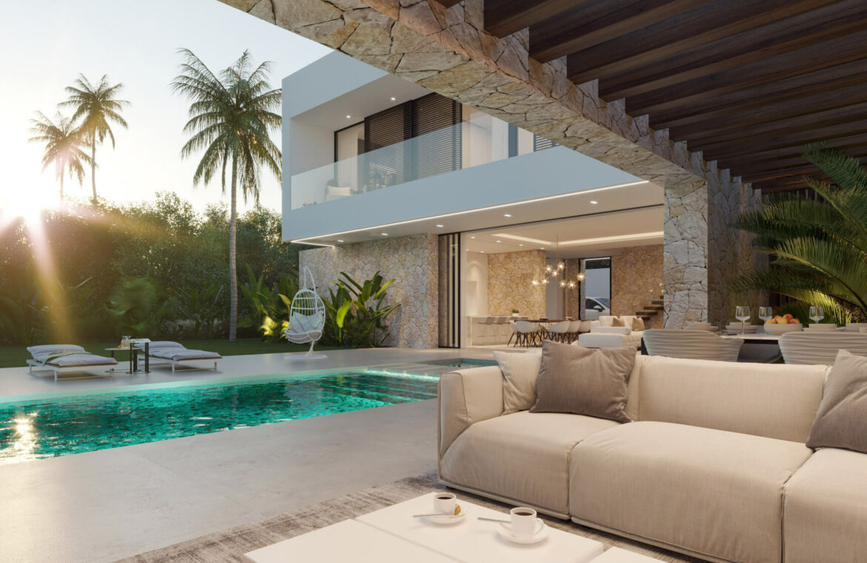 cortijo blanco beach villa vamoz te koop marbella costa del sol spanje nieuwbouw overdekt