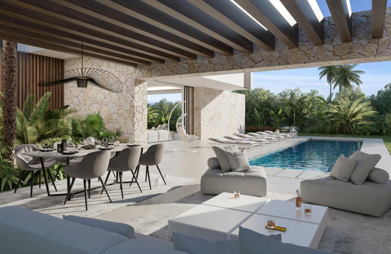 cortijo blanco beach villa vamoz te koop marbella costa del sol spanje nieuwbouw terras