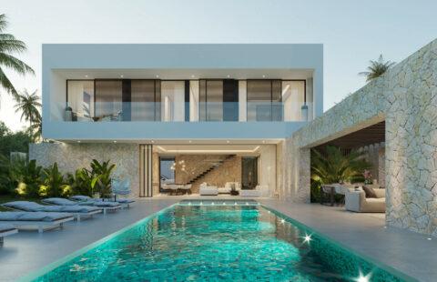 Cortijo Blanco Beach: uitzonderlijk villaproject wandelafstand zee en Banus