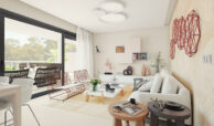 the crest nieuwbouw appartement te koop la quinta nueva andalucia golfvallei benahavis marbella costa del sol spanje zeezicht salon