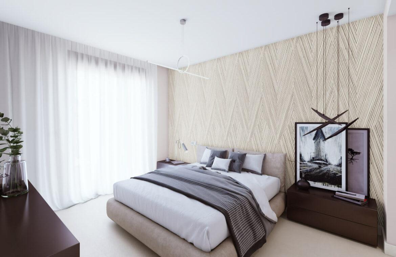 the crest nieuwbouw appartement te koop la quinta nueva andalucia golfvallei benahavis marbella costa del sol spanje zeezicht slaapkamer