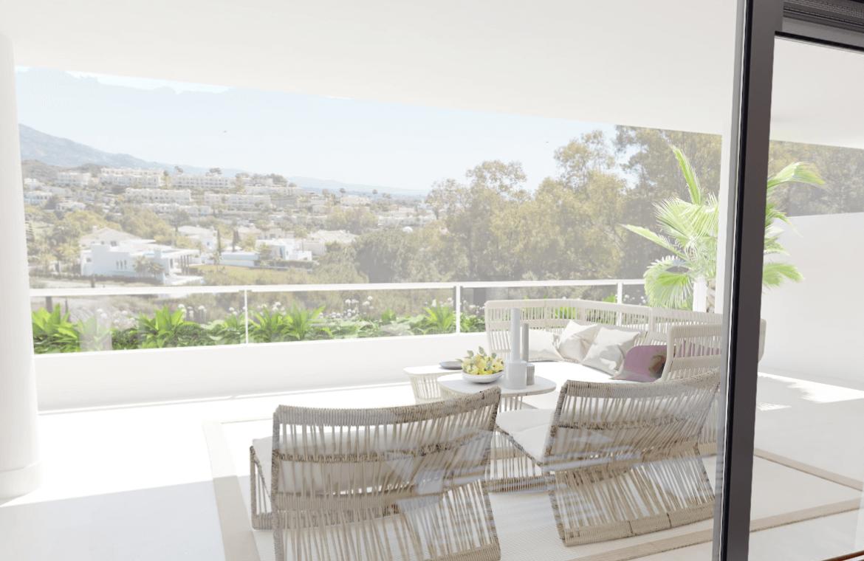 the crest nieuwbouw appartement te koop la quinta nueva andalucia golfvallei benahavis marbella costa del sol spanje zeezicht zicht