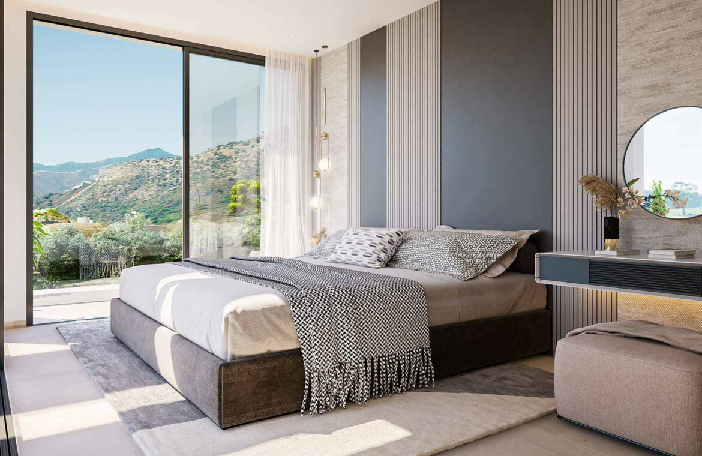 la finca de jasmine benahavis costa del sol spanje vamoz nieuwbouw moderne villa te koop zeezicht modern laurel slaapkamer