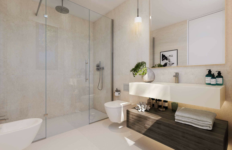 la finca de jasmine benahavis costa del sol spanje vamoz nieuwbouw moderne villa te koop zeezicht modern romero badkamer
