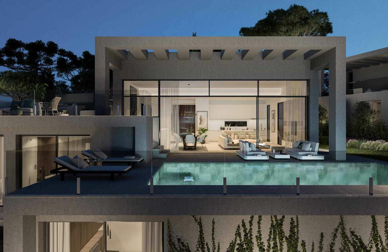 la finca de jasmine benahavis costa del sol spanje vamoz nieuwbouw moderne villa te koop zeezicht modern tomillo tuin