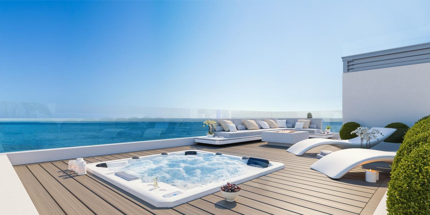 monterrey residencial mijas costa spanje vamoz nieuwbouw appartement kopen kleinschalig zeezicht wandelafstand strand penthouse solarium