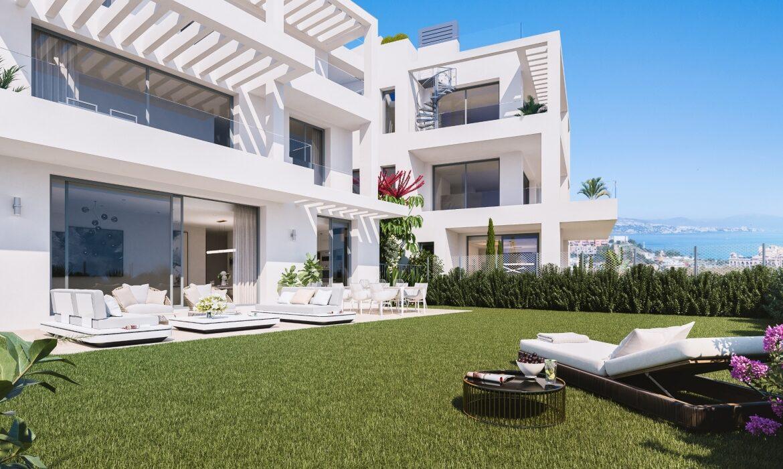 monterrey residencial mijas costa spanje vamoz nieuwbouw appartement kopen kleinschalig zeezicht wandelafstand strand tuin