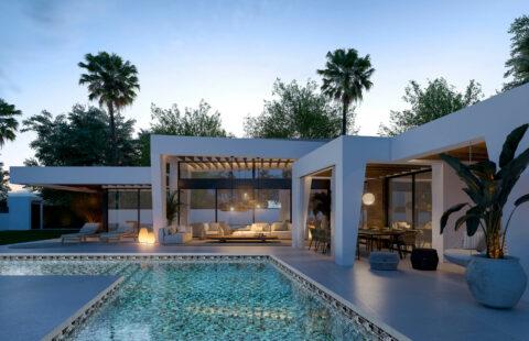 Marein Natura: moderne nieuwbouw villa op 1 niveau in Nueva Andalucia