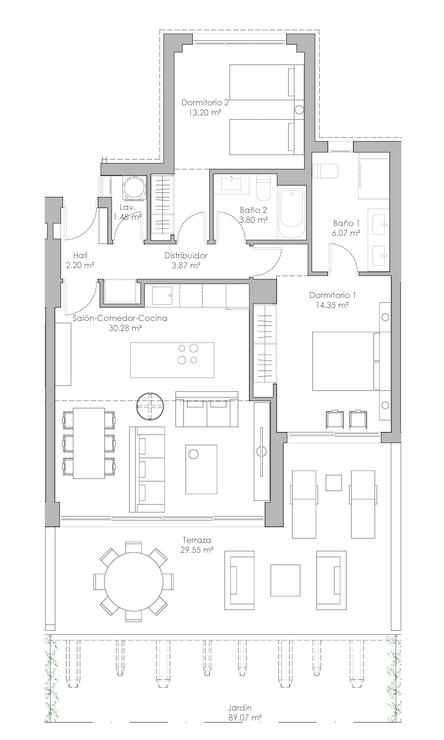 oasis325 fase2 nieuwbouw appartement te koop selwo new golden mile vamoz marbella estepona costa del sol spanje grondplan 2slaapkamers