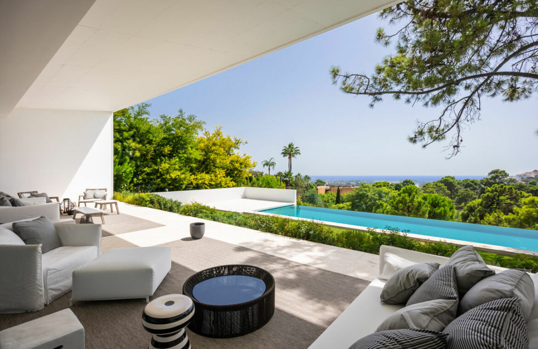 el bosque reserva alcuzcuz benahavis vamoz marbella costa del sol spanje nieuwbouw villa zeezicht te koop 8 terras